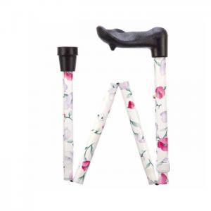 Pink Flower Arthritis Grip Walking Stick