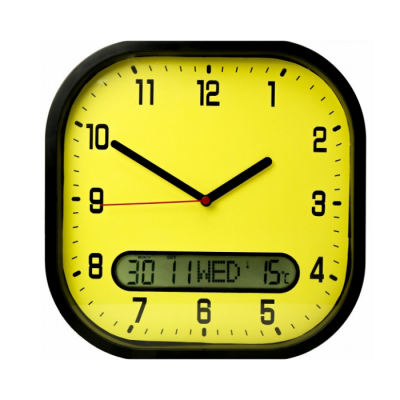 High Contrast Day-to-Day Wall Clock