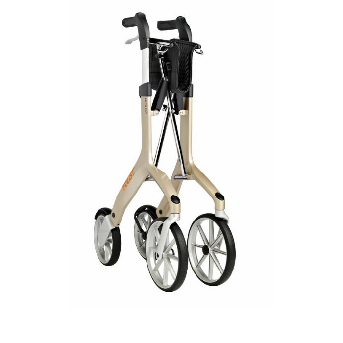 Lets Fly Rollator Champagne Folded