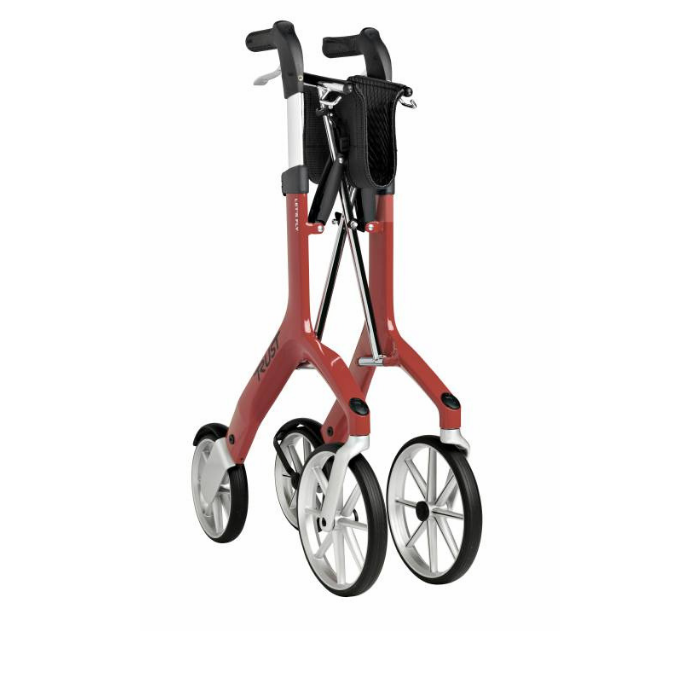 Lets Fly Rollator Red Folded