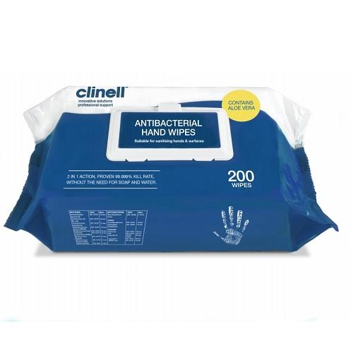 Clinell Antibcterial Hand Wipes