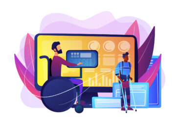 Assistive technology concept vector illustration